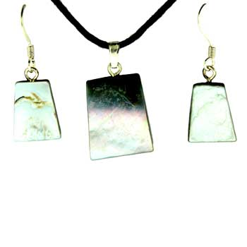 Mother Of Pearl Ladder Pendants & Earrings