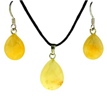 11X14/13X17mm Earring/Pendant Faceted Pear Yellow Serpentine Jewelry