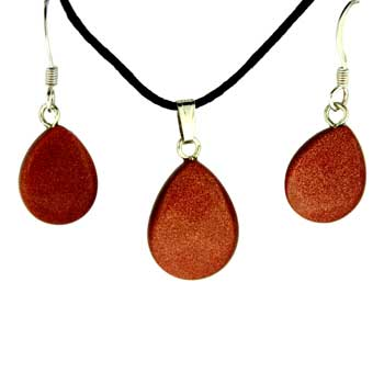 11X14/13X17mm Earring/Pendant Faceted Pear Brown Goldstone Jewelry