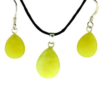 11X14/13X17mm Earring/Pendant Faceted Pear Olive Serpentine Jewelry