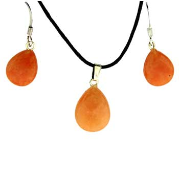 11X14/13X17mm Earring/Pendant Faceted Pear Red Aventurine Jewelry