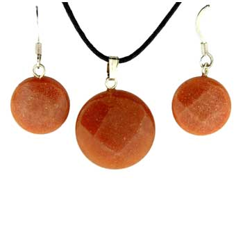 11X14/13X17mm Earring/Pendant Faceted Coin Red Aventurine Jewelry