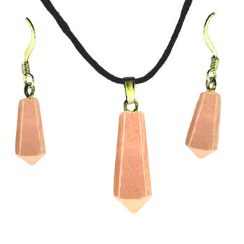 Rose Quartz Taper Point Pendants & Earrings