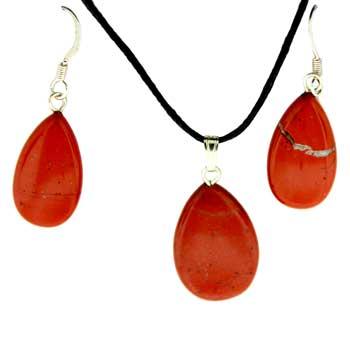 Red Jasper Pear Pendants
