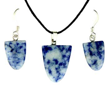 11X16/17X22mm Earring/Pendant Tongue Sodalite / Brazil Jewelry