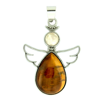 28x38mm tiger eye angel pendants igm 28x38mm inlay frame pendant angel guidance tiger eye jewelry aloadofball Gallery