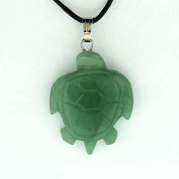 20X25mm Carved A-20 Swimming Turtle Green Aventurine Jewelry