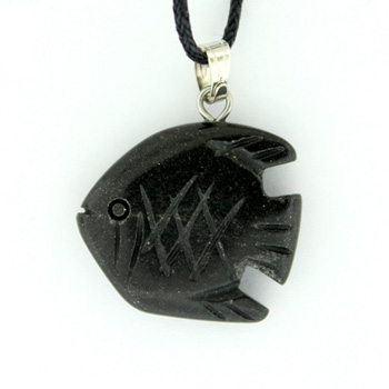 Black Jasper Angelfish Pendants