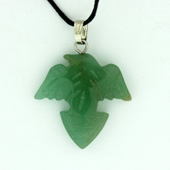25X25mm Carved A-21 Flying Eagle Green Aventurine Jewelry