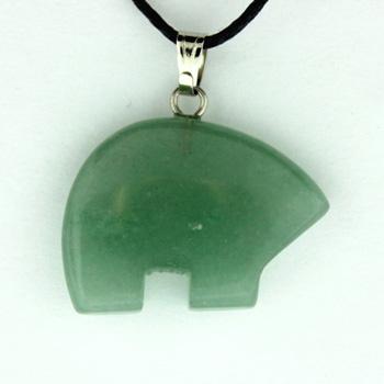 Green Aventurine Zuni Bear Pendants