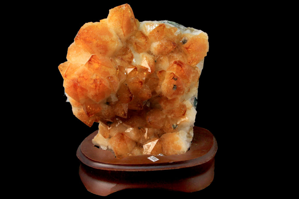Citrine Geode with wood stand