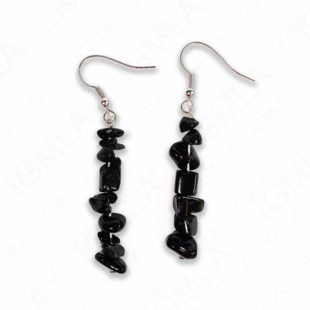 Black Jasper Chips Earrings