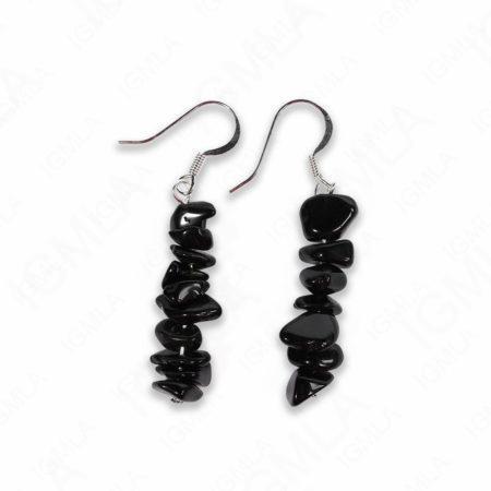 Black Obsidian Chips Earrings