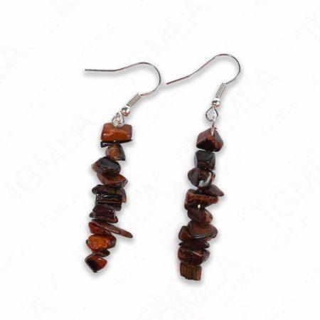 Red Tiger Eye Chips Earrings