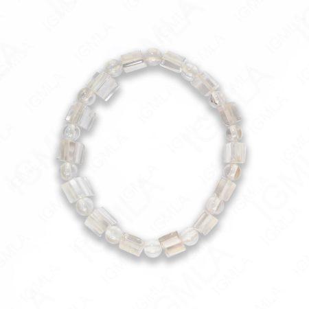 Half Round Rock Crystal Tanker Bracelets