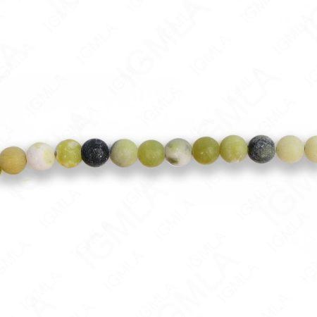 6mm Flower Serpentine Round Matt Beads