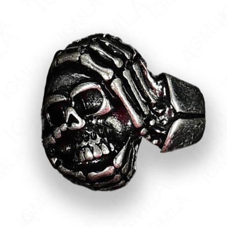 Zinc Alloy Skull Rings 12 Pc Box