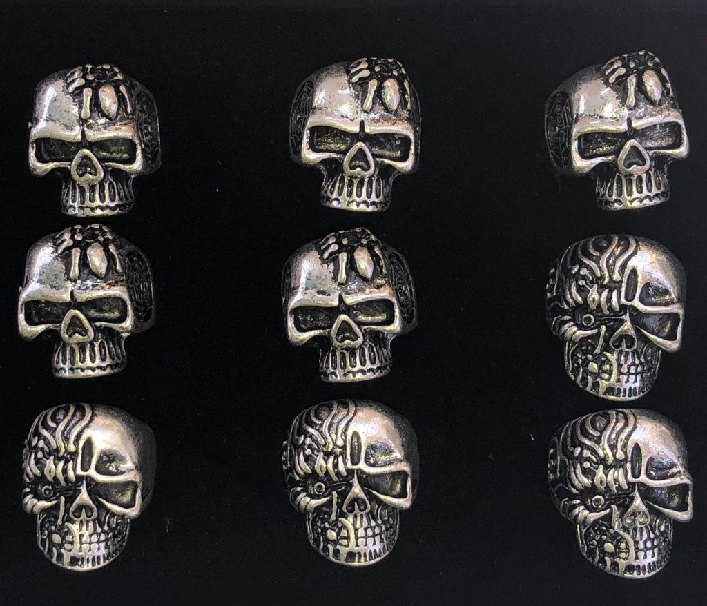 Zinc Alloy Skull Rings 12Pc Box