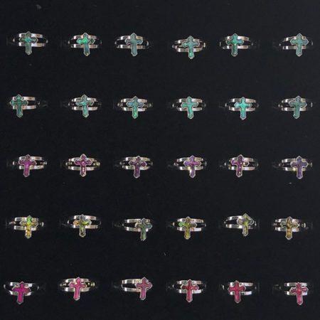 Paua Shell Aukh Rings 36 Pc Box