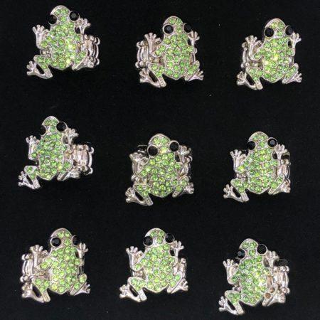 Animal – Green Frog Rings 24 Pc Box
