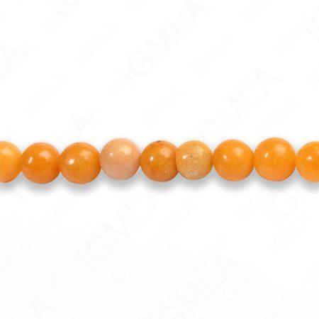 4mm Yellow Serpentine Round Beads