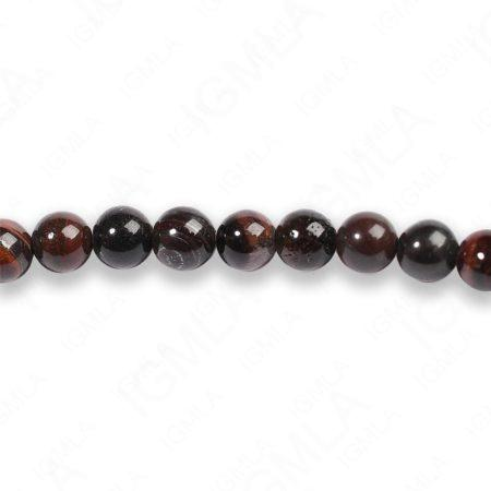 4mm Red Tiger Eye Round Beads