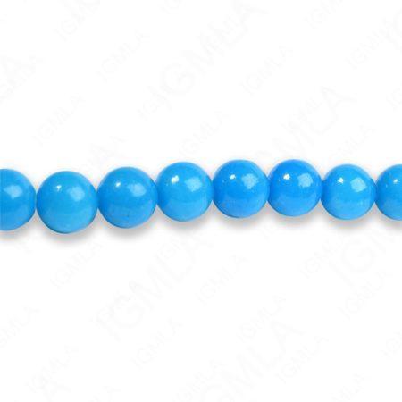 8mm Dyed Amazonite Serpentine Round Beads