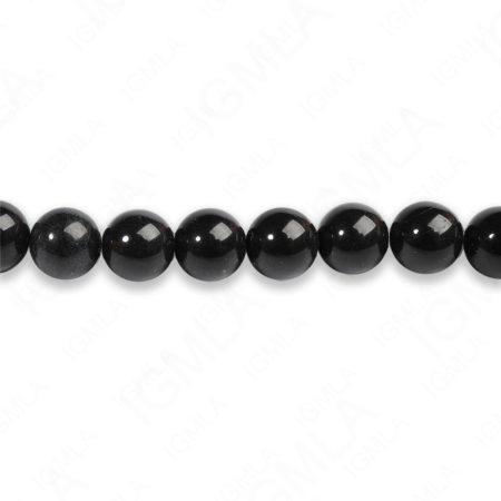 8mm Blackstone Round Beads