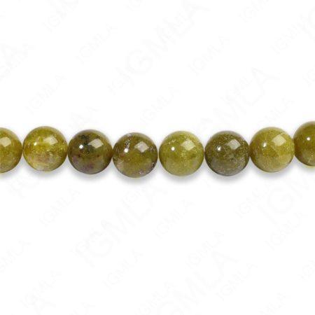 8mm Chinese B.C. Serpentine Round Beads