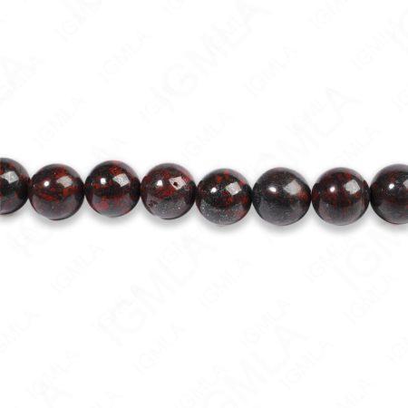 8mm Poppy Jasper Round Beads