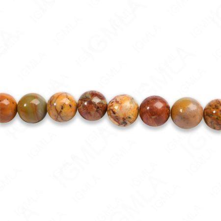 8mm Rainbow Picasso Jasper Round Beads