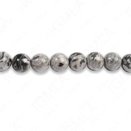8mm Crazy Lace Jasper Round Beads