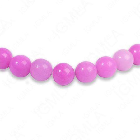 8mm Dyed Purple Serpentine Round Beads