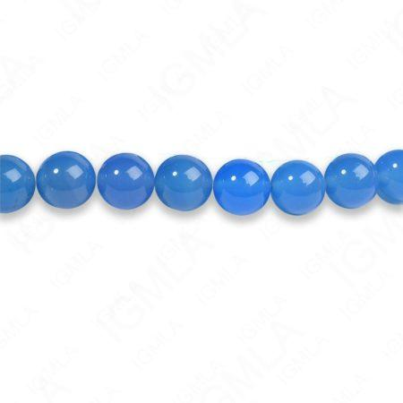8mm Blue Agate Round Beads
