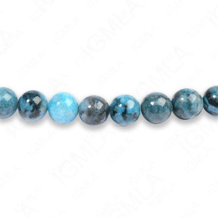 8mm Dyed Blue Amazonite Jasper Round Beads