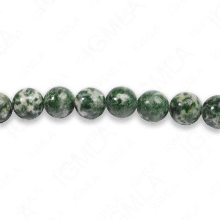 8mm Green Spot Agate Round Beads