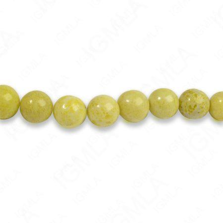8mm Pineapple Jasper Round Beads