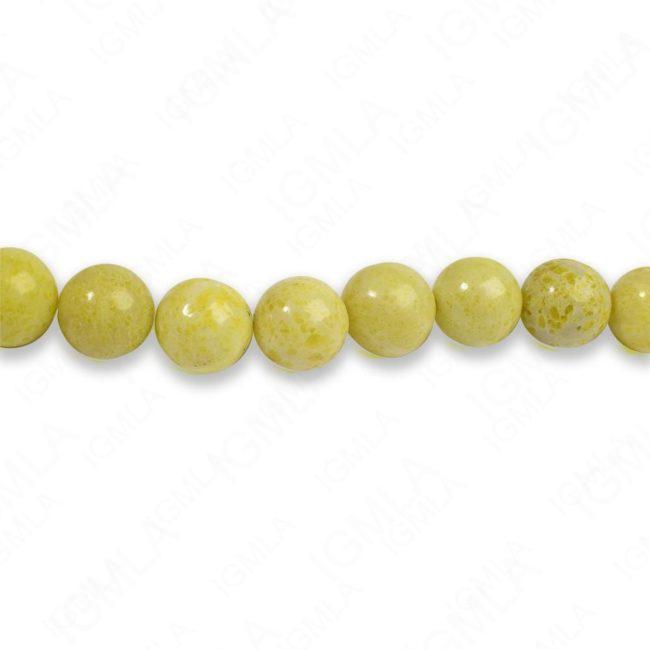 8mm Pineapple Jasper Round Beads
