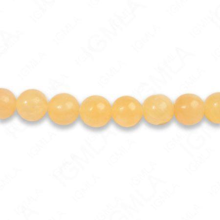 8mm Honey Jade Round Beads