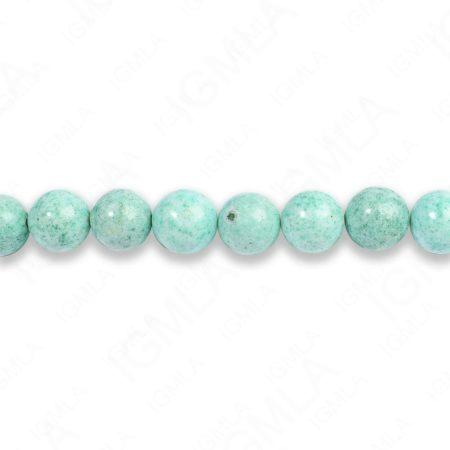 8mm Dyed Blue Fossil Stone Round Beads