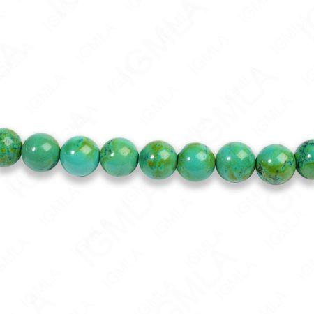 8mm Dyed Blue/Green Magnesite Turquoise Round Beads