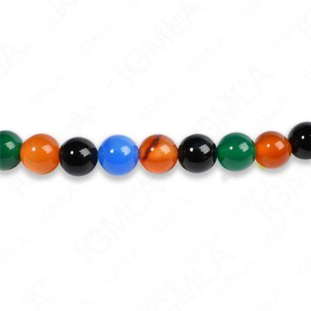 8mm Multi Agate Round Beads