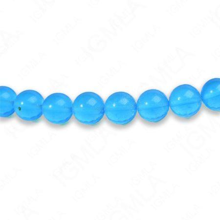 8mm Dark Aqua Quartz Round Beads