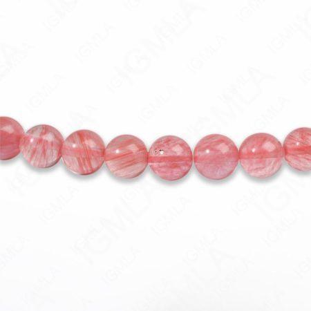 8mm Cherry Quartz Round Beads
