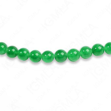 8mm Dyed Green Jade Round Beads