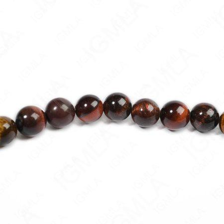 8mm Red Tiger Eye Round Beads