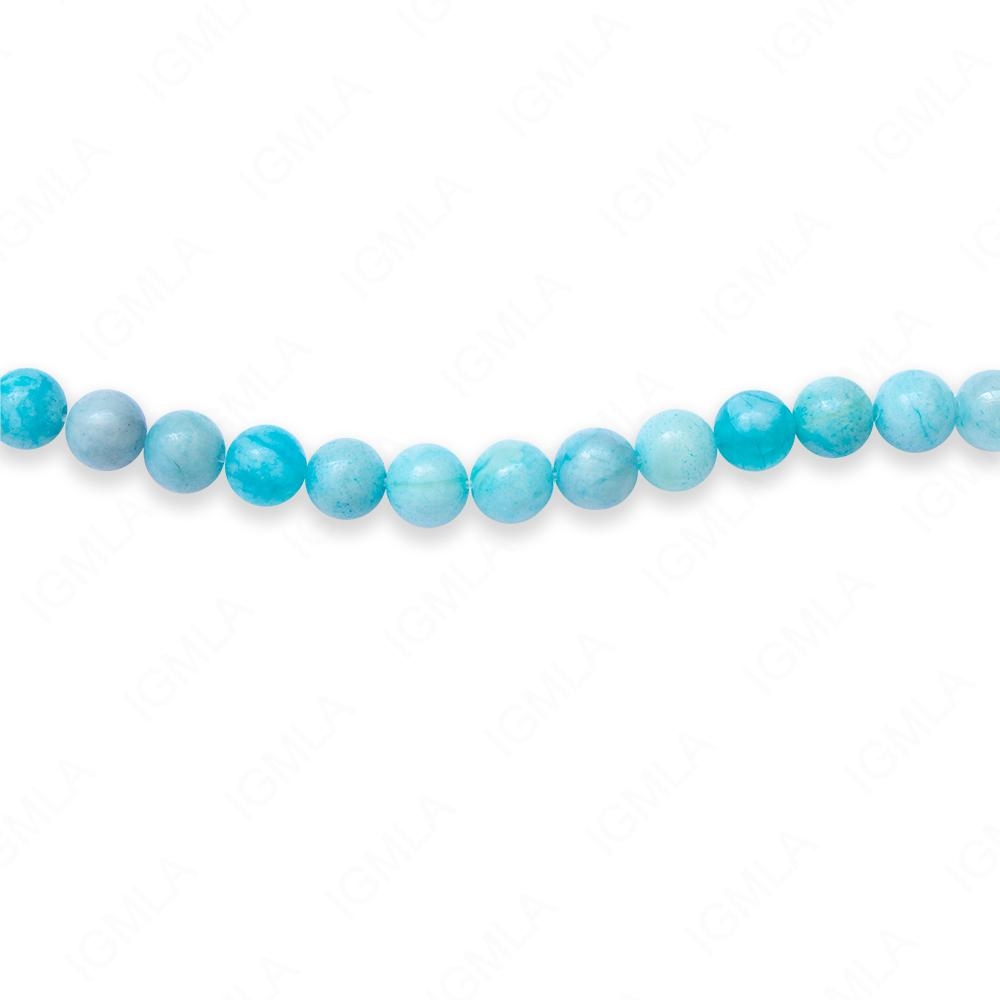 16″ 6mm Light Turquoise Japser Dyed Round Beads