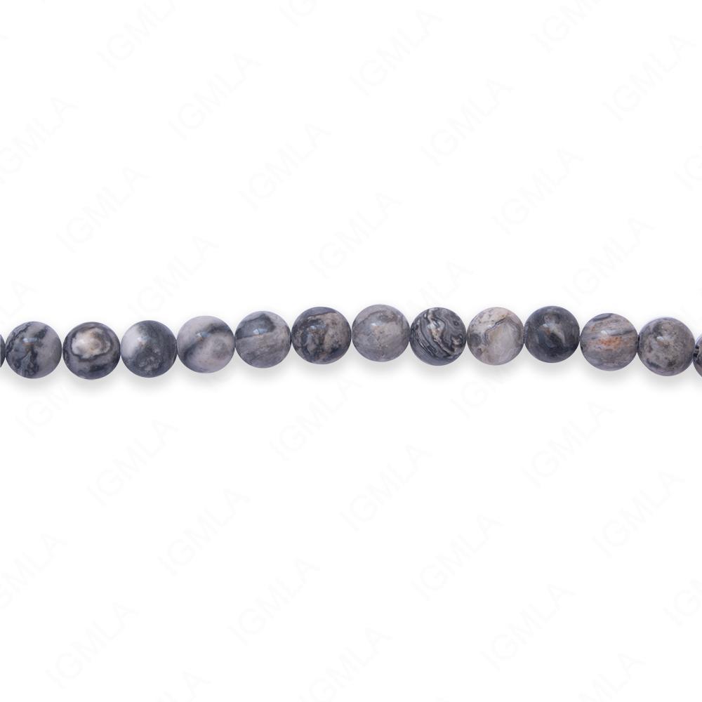 16″ 6mm Laguna Lace Jasper Round Beads