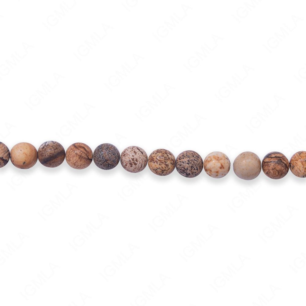 16″ 6mm Picture Jasper Natural Round Beads