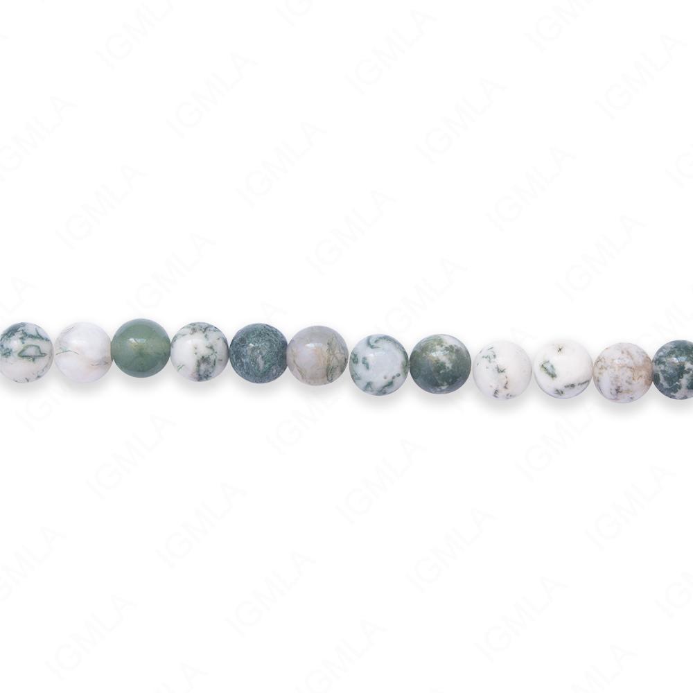 16″ 6mm Tree Agate Jasper Natural Round Beads